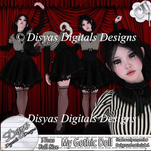 GOTHIC DOLL TUBE PACK CU