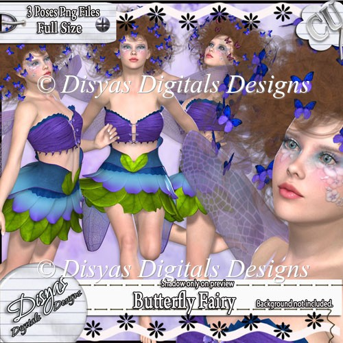 BUTTERFLY FAIRY TUBE CU