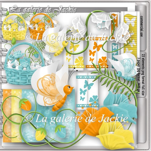 CU flowers and butterflies 10 FS by GJ