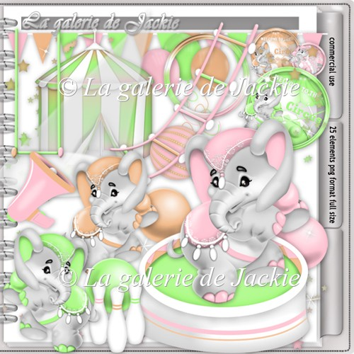 CU Circus Elephant 3 FS by GJ - Click Image to Close