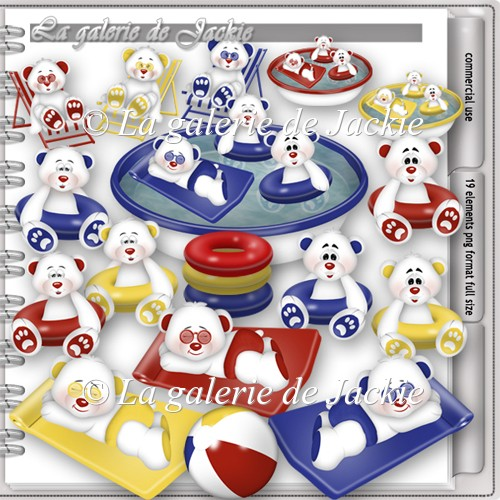 CU Teddy bear pool party 3 FS by GJ