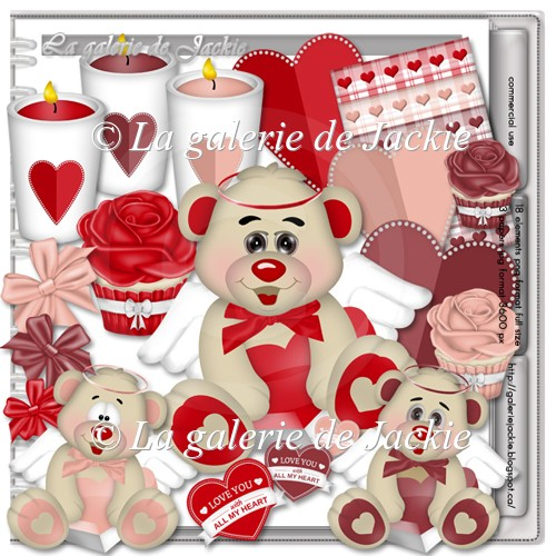 Cute Valentine Bear 1 FS by GJ - Click Image to Close
