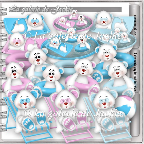 CU Teddy bear pool party 1 FS by GJ