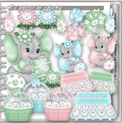 CU Sweet Easter Elephant 1 FS by GJ