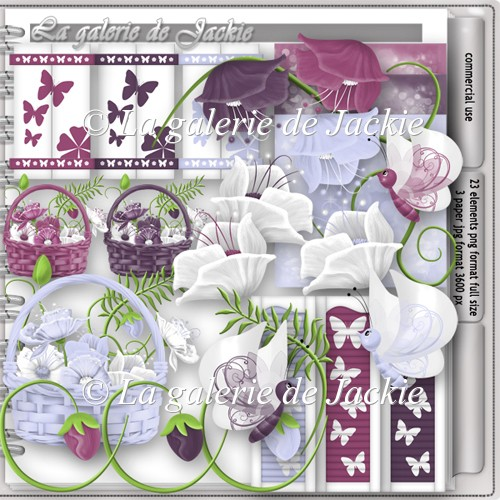 CU flowers and butterflies 12 FS by GJ