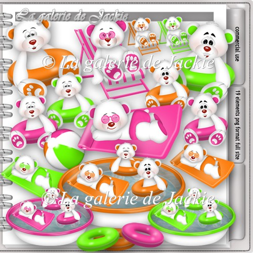 CU Teddy bear pool party 2 FS by GJ