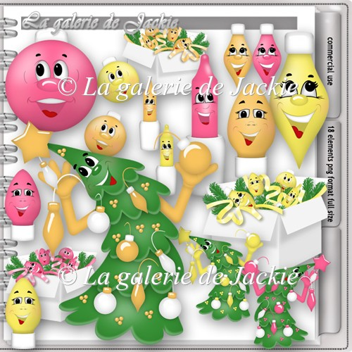 CU Funny Christmas Ornaments 1 FS by GJ - Click Image to Close