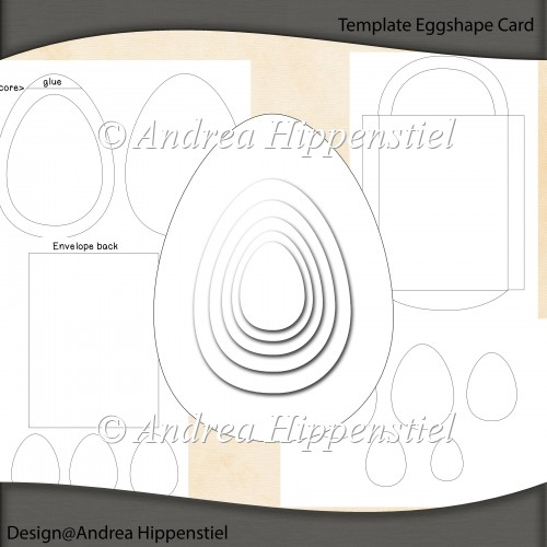 Eggshape Card Template