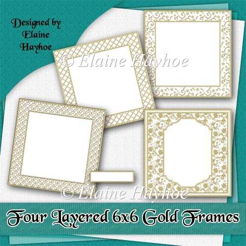 Four Layered 6x6 Gold Frames