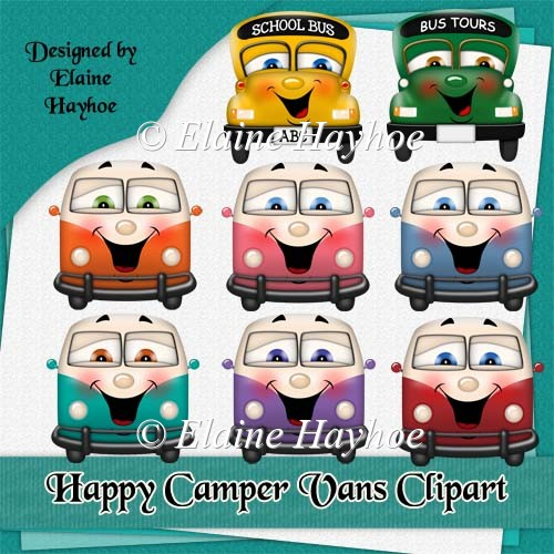 Happy Camper Vans Clipart