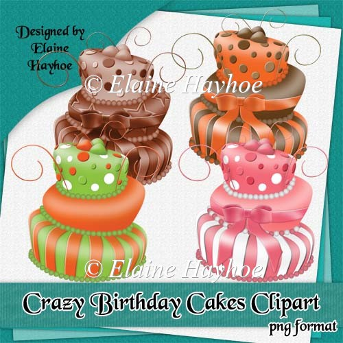 Crazy Birthday Cakes Clipart
