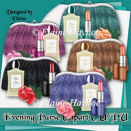 Evening Purse Compilation Clip Art