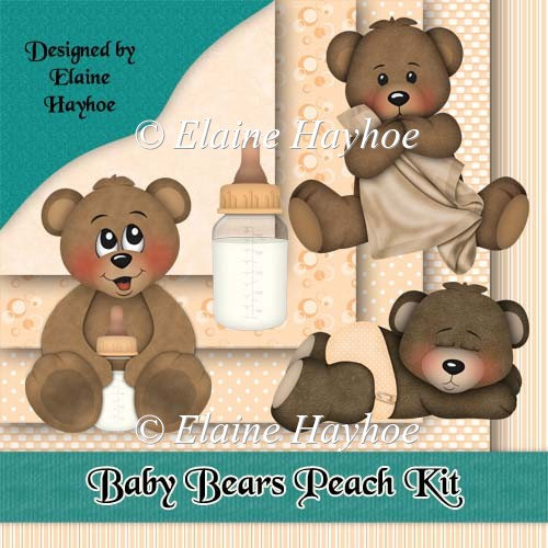 Baby Bears Peach Kit - Click Image to Close