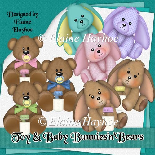 Toy and Baby BunniesnBears Clipart