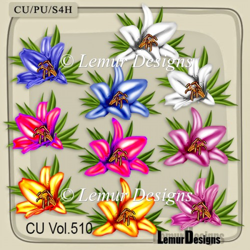 CU Vol. 510 Flowers Lily - Click Image to Close