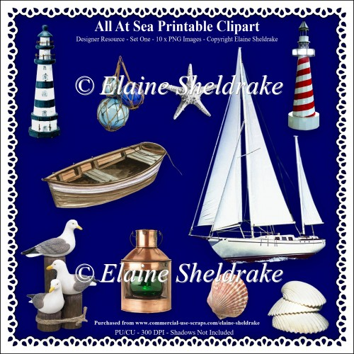 All At Sea - Printable Clipart - Set One - Designers Resource Ki - Click Image to Close