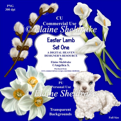 Easter Lamb - Set One - CU Designer Resource For CU/PU