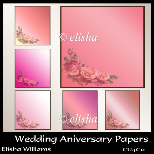 Wedding Aniversary Papers