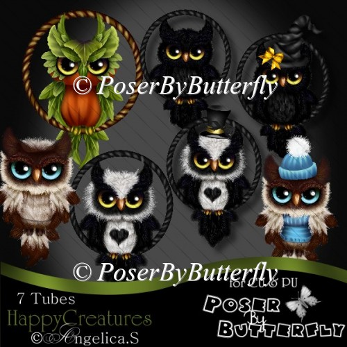 CU Happy Creatures Baby Owls