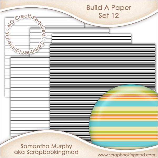 Build A Paper Set 12 - PNG FILES & .PAT File - CU OK