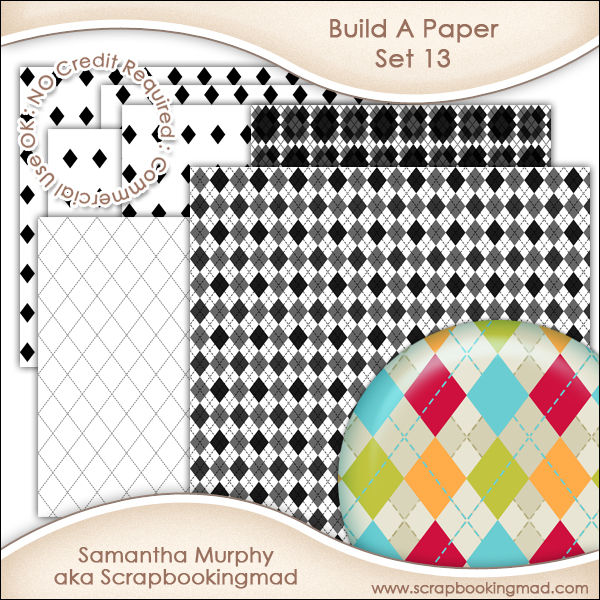 Build A Paper Set 13 - PNG FILES & .PAT File - CU OK