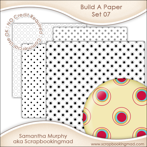 Build A Paper Set 07 - PNG FILES & .PAT File - CU OK