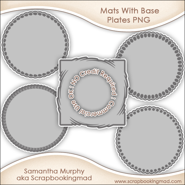 Mats With Base Plates Templates PNG - CU OK