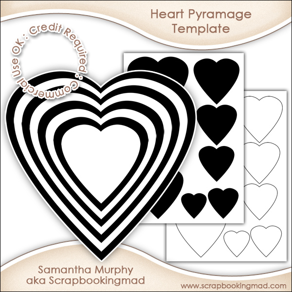 heart pyramage template commercial use ok it s free commercial