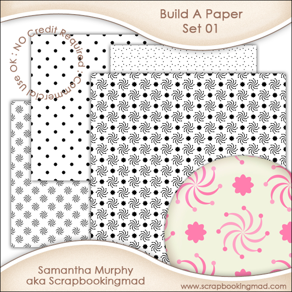 Build A Paper Set 01 - PNG FILES - CU OK
